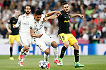 Real Madrid's Carlos Henrique Casemiro (l) and Atletico de Madrid's Koke Resurrecccion during Champions League 2016/2017 Semi-finals 1st leg match. May 2,2017. (ALTERPHOTOS/Acero)