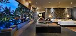 Modern lounging area at a luxury villa in Canggu, Bali
