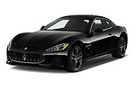 2018 Maserati GranTurismo Automatic 2 Door Coupe angular front stock photos of front three quarter view