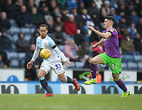 Blackburn Rovers Elliott Bennett in action with Bristol City's Callum O'Dowda<br /> <br /> Photographer Mick Walker/CameraSport<br /> <br /> The EFL Sky Bet Championship - Blackburn Rovers v Bristol City - Saturday 9th February 2019 - Ewood Park - Blackburn<br /> <br /> World Copyright &copy; 2019 CameraSport. All rights reserved. 43 Linden Ave. Countesthorpe. Leicester. England. LE8 5PG - Tel: +44 (0) 116 277 4147 - admin@camerasport.com - www.camerasport.com