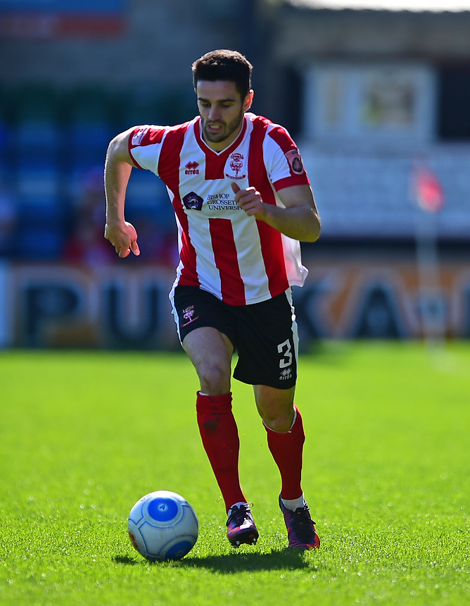 Lincoln City's Sam Habergham<br /> <br /> Photographer Andrew Vaughan/CameraSport<br /> <br /> Vanarama National League - Lincoln City v Forest Green Rovers - Saturday 25th March 2017 - Sincil Bank - Lincoln<br /> <br /> World Copyright &copy; 2017 CameraSport. All rights reserved. 43 Linden Ave. Countesthorpe. Leicester. England. LE8 5PG - Tel: +44 (0) 116 277 4147 - admin@camerasport.com - www.camerasport.com