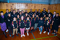 2018 Rippa Rugby team photo with the All Blacks at Wellington College in Wellington, New Zealand on Monday, 10 September 2018. Photo: Dave Lintott / lintottphoto.co.nz
