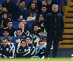 Chelsea's Thibaut Courtois looks on from the bench<br /> <br /> Barclays Premier League- Chelsea vs Everton  - Stamford Bridge - England - 11th February 2015 - Picture David Klein/Sportimage