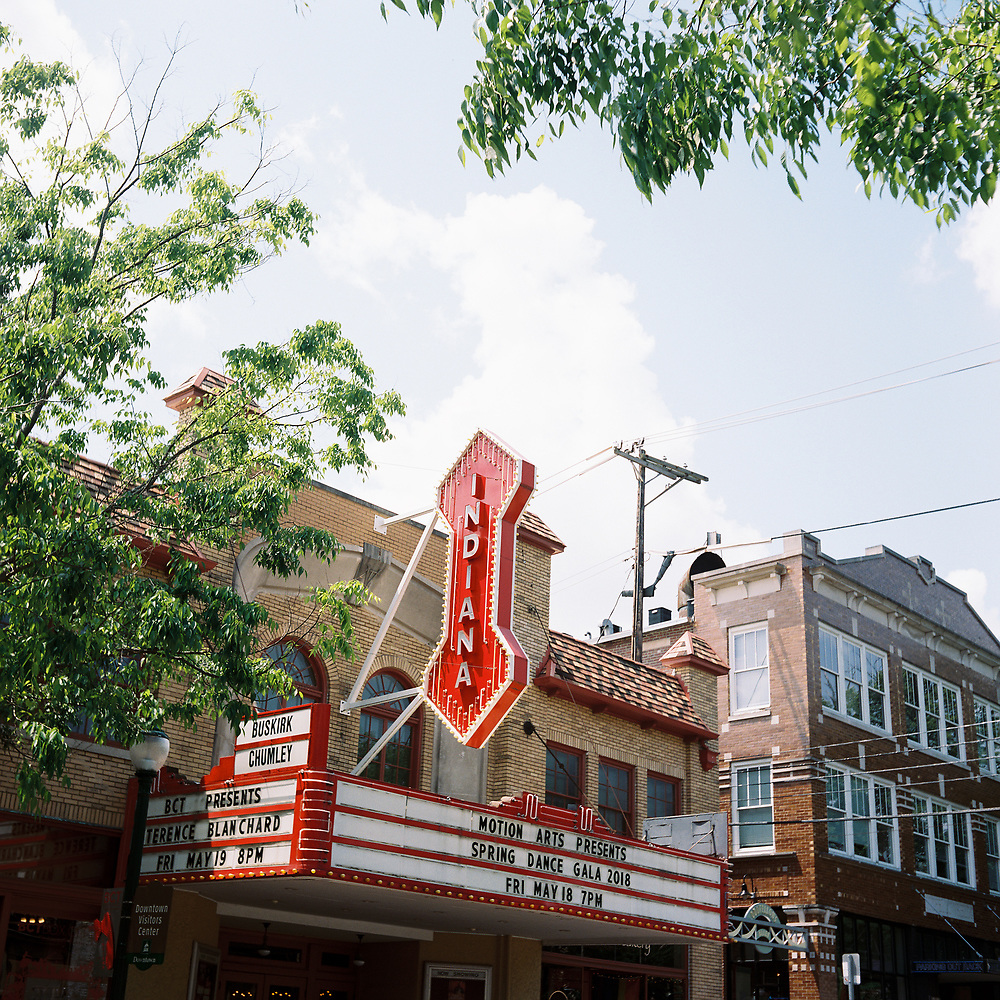 The Buskirk-Chumley Theater is pictured in Bloomington, Indiana on Monday, May 14, 2018. (Photo by James Brosher)