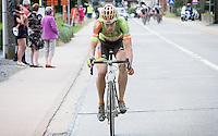 CX World Champion Wout Van Aert (BEL/Crelan-Vastgoedservice) leading the race<br /> <br /> 1st Dwars door het Hageland 2016<br /> (pics by Léon Van Bon)