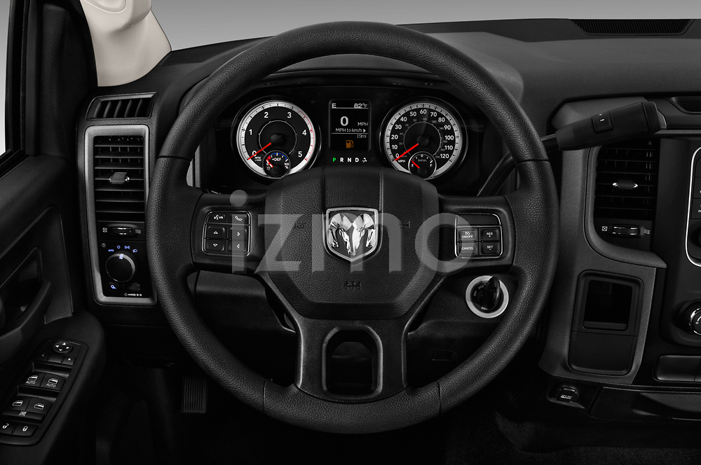 Car pictures of steering wheel view of a 2018 Ram Ram 3500 Tradesman Crew Cab Long 4 Door Pick Up