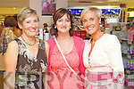 Pictured at the Friday Night Live with Amanda Brunker event in CH Chemist on Friday night, from left: Ann Sheehan (Oakpark), Veronica Costello (Cahermoneen) and Maureen Sheehan (Oakpark)..