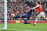 Sebastien Haller of West Ham United shot is saved during Arsenal vs West Ham United, Premier League Football at the Emirates Stadium on 7th March 2020