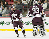 Darcy Murphy (Colgate - 15), Bruce Racine (Colgate - 33) -  - The Harvard University Crimson defeated the visiting Colgate University Raiders 7-4 (EN) on Saturday, February 20, 2016, at Bright-Landry Hockey Center in Boston, Massachusetts.