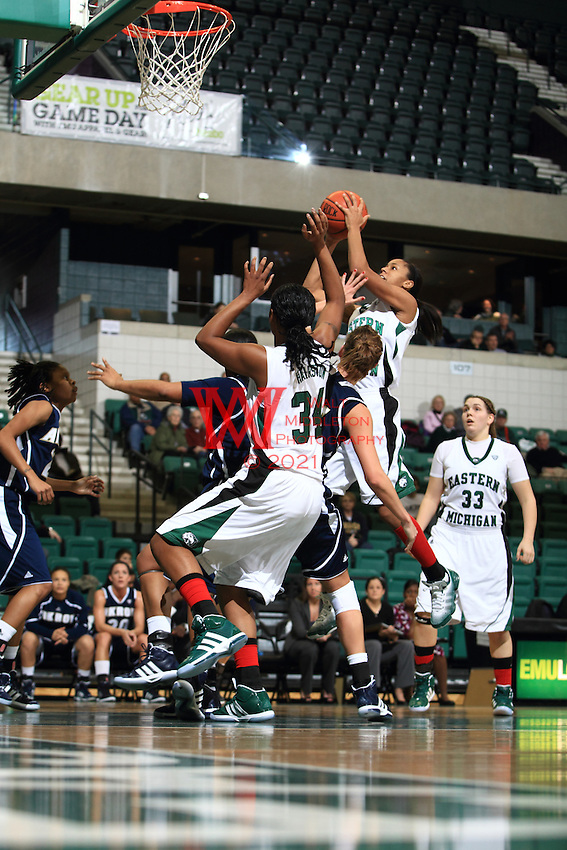 Eastern Michigan University Women's Basketball team dominated Akron at EMU.