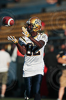 Aug 3, 2007; Hamilton, ON, CAN; Winnipeg Blue Bombers play the Hamilton Tiger-Cats at Ivor Wynne Stadium. The Tiger-Cats defeated the Blue Bombers 43-22. Mandatory Credit: Ron Scheffler. Pictured here is Winnipeg Blue Bombers wide receiver (82) Terrence Edwards.