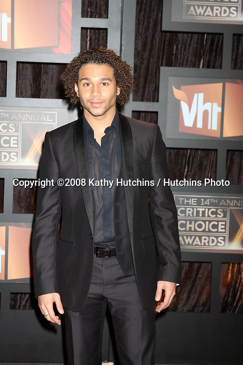 Corbin Bleu arriving at the  Critic's Choice Awards at the Santa Monica Civic Center, in Santa Monica , CA on .January 8, 2009.©2008 Kathy Hutchins / Hutchins Photo..                .