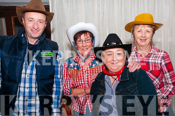 Moyvane Village Festival:Pictured at the Barn Dance at Moyvane Community centre as part of the Moyvane Villqage festival on Sunday night last were Mike O'Sullivan, Marie Stack, Ursala Enright & Noreen McEvoy.