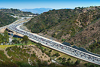 I-405, Freeway,  Sepulveda Pass, going, North, Freeway Widening Project, Interstate, 405, Los Angeles, LA, California