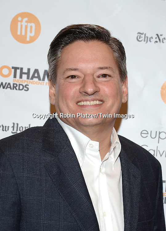 Ted Sarandos of Netflix attends the 24th Annual Gotham Independent Film Awards on December 1, 2014 at Cipriani Wall Street in New York City, USA.<br /> <br /> photo by Robin Platzer/Twin Images<br />  <br /> phone number 212-935-0770