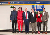 They are a total of 18 stations for the 18 teams that will compete in the final of the tennis tournament. The Davis Cup finals will be held for the first time in Madrid, between November 18 and 24 at the Caja Magica.<br /> Feliciano lopez, Ignacio Aguado, Angel Garrido and Albert Costa