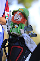Paul Dunne (IRL) bag on the 2nd tee during Thursday's Round 1 of the 2018 AT&amp;T Pebble Beach Pro-Am, held over 3 courses Pebble Beach, Spyglass Hill and Monterey, California, USA. 8th February 2018.<br /> Picture: Eoin Clarke | Golffile<br /> <br /> <br /> All photos usage must carry mandatory copyright credit (&copy; Golffile | Eoin Clarke)
