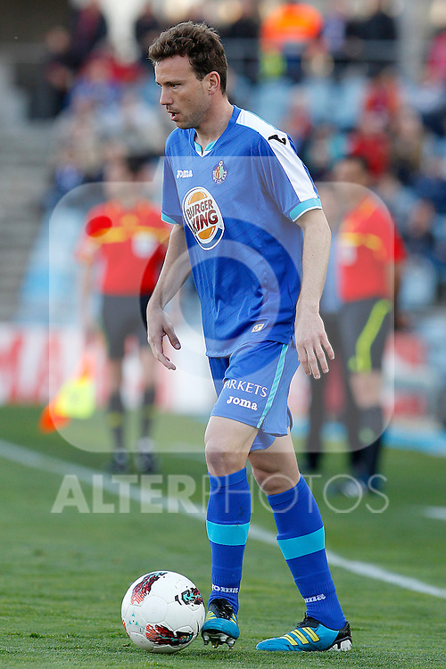Getafe's Mane Jimenez during La Liga match.March 17,2012. (ALTERPHOTOS/Acero)
