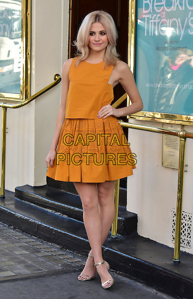 LONDON, ENGLAND - JANUARY 28: Pixie Lott attends photocall as she prepares to make her West End acting debut as Holly Golightly in Truman Capote's classic &quot;Breakfast at Tiffany&rsquo;s&quot;, adapted by Richard Greenberg at Theatre Royal on January 28, 2016, London, England<br /> CAP/JOR<br /> &copy;JOR/Capital Pictures