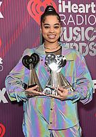 14 March 2019 - Los Angeles, California - Ella Mai. 2019 iHeart Radio Music Awards - Press Room held at Microsoft Theater. Photo Credit: Birdie Thompson/AdMedia