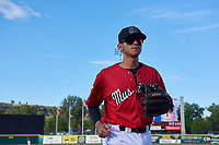 Billings Mustangs Victor Ruiz (26) before a Pioneer League game against the Grand Junction Rockies at Dehler Park on August 15, 2019 in Billings, Montana. Billings defeated Grand Junction 11-2. (Zachary Lucy/Four Seam Images)