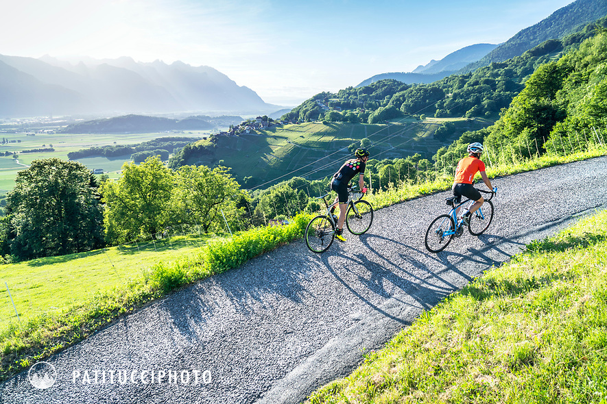 Road biking up to Gryon and Villars from Bex, Switzerland
