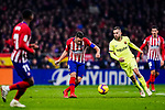 Jordi Alba of FC Barcelona (R) in action against Jorge Koke of Atletico de Madrid (L) during the La Liga 2018-19 match between Atletico Madrid and FC Barcelona at Wanda Metropolitano on November 24 2018 in Madrid, Spain. Photo by Diego Souto / Power Sport Images