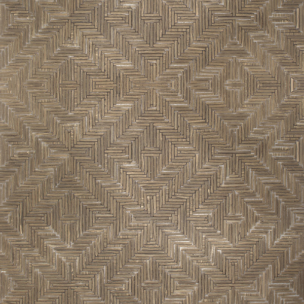 Rattan, a hand-cut tumbled mosaic, shown in Bayard, is part of the Tissé® collection for New Ravenna.