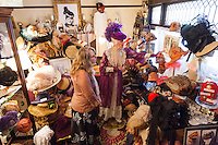 Alyce Cornyn-Selby is the Founder and Executive Director of The Hat Museum in Portland, Oregon<br /> Shown here giving a tour of the Museum.