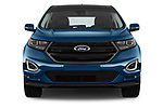 Car photography straight front view of a 2017 Ford Edge Sport 5 Door SUV