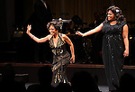 Adriane Lenox & Amber Riley during the Curtain Call for Encores! 'Cotton Club Parade' at City Center in New York City on 11/17/2012