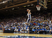 Freshman Austin Rivers prepares to dunk. Photo by Al Drago...