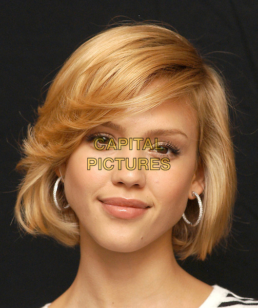 "JESSICA ALBA.Photocall for ""Sin City"", Rome, Italy, .May 25th 2005..portrait headshot hoop earrings.Ref: CAV.www.capitalpictures.com.sales@capitalpictures.com.©Luca Cavallari/Capital Pictures."