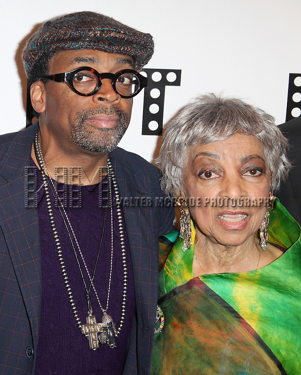 Spike Lee & Ruby Dee.attending the Woodie King Jr's NFT New Federal Theatre 40th Reunion Gala Benefit in New York City.