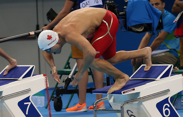 Rio de Janeiro-9/9/2016-Issac Bouckley competes in the men's 50m freestyle during the swimming  at the 2016 Paralympic Games in Rio. Photo Scott Grant/Canadian Paralympic Committee