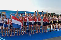 Rotterdam. Netherlands.   NED BM8+.  Bow. Michiel OYEN,  Nelson RITSEMA,  Michiel MANTEL,   Jaap SCHOLTEN,  Maarten HURKMANS,   Simon VAN DORP,  Lex VAN DEN HERIK,  Max PONSEN,  Diederik VAN ENGELENBURG, 2016 JWRC, U23 and Non Olympic Regatta. {WRCH2016}  at the Willem-Alexander Baan.   Friday  26/08/2016 <br /> <br /> [Mandatory Credit; Peter SPURRIER/Intersport Images]