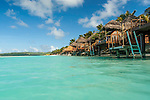 Overwater bungalows at Aitutaki Lagoon Resort & Spa on Aitutaki, Cook Islands