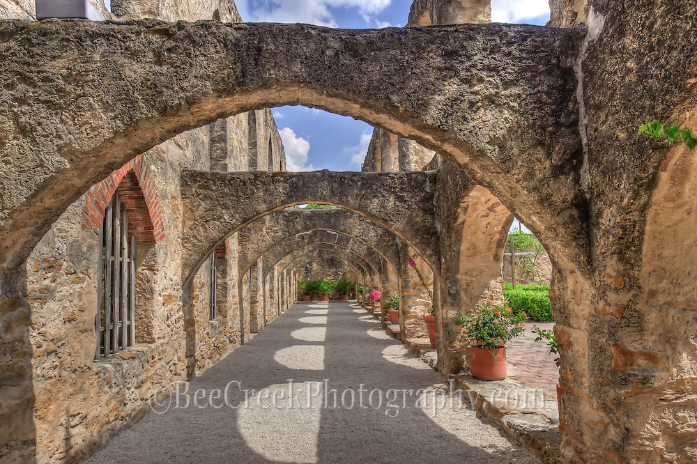 """This is an image of the """"Flying Buttresses"""" at the Mission San Jose in San Antonio Texas"""