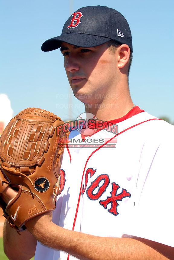 Lowell Spinners RHP BRANDON WORKMAN prior to a game  vs. the Staten Island Yankees at LaLacheur Park in Lowell, Massachusetts on August 28, 2010.Brandon was drafted by the Boston Red Sox in the 2nd round of the 2010 draft out of the University of Texas.    Photo By Ken Babbitt/Four Seam Images