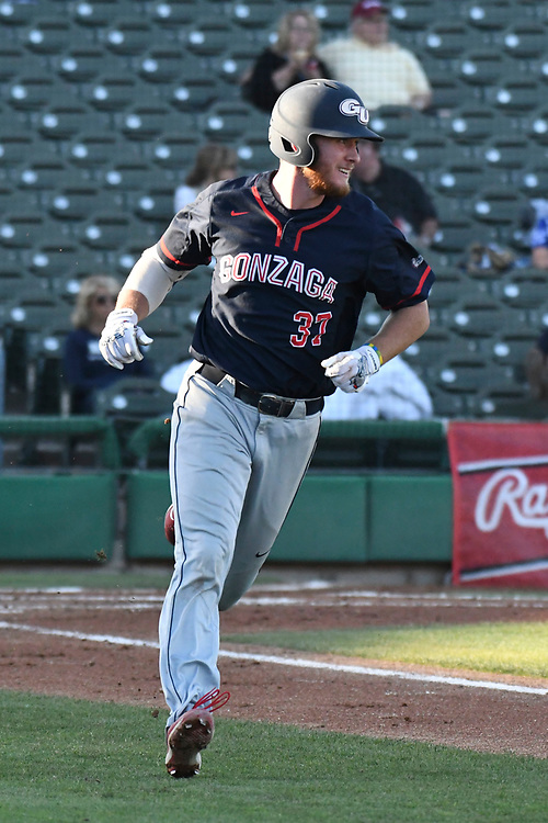 May 27, 2017; Stockton, CA, USA; Gonzaga Bulldogs second baseman Justin Jacobs during the WCC Baseball Championship at Banner Island Ballpark.