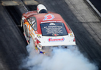 Jun. 29, 2012; Joliet, IL, USA: NHRA pro stock driver Ronnie Humphrey during qualifying for the Route 66 Nationals at Route 66 Raceway. Mandatory Credit: Mark J. Rebilas-