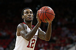 27 November 2015: NC State's Anthony (Cat) Barber. The North Carolina State University of North Carolina Wolfpack hosted the Winthrop University Eagles at the PNC Arena in Raleigh, North Carolina in a 2015-16 NCAA Division I Men's Basketball game. NC State won the game 87-79.