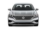 Car photography straight front view of a 2020 Volkswagen Passat SE 4 Door Sedan Front View