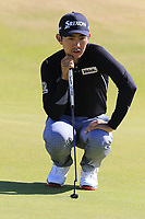 Soomin Lee (KOR) on the 2nd green during Friday's Round 2 of the 2018 Dubai Duty Free Irish Open, held at Ballyliffin Golf Club, Ireland. 6th July 2018.<br /> Picture: Eoin Clarke | Golffile<br /> <br /> <br /> All photos usage must carry mandatory copyright credit (&copy; Golffile | Eoin Clarke)