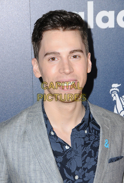01 April 2017 - Beverly Hills, California - Jordan Gavaris.  28th Annual GLAAD Media Awards held at The Beverly Hilton Hotel in Beverly Hills.  <br /> CAP/ADM/BT<br /> &copy;BT/ADM/Capital Pictures