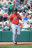 Erie SeaWolves infielder Wade Gaynor (22) during game against the Trenton Thunder at ARM & HAMMER Park on May 29 2013 in Trenton, NJ.  Trenton defeated Erie 3-1.  Tomasso DeRosa/Four Seam Images