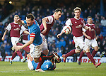 Lee McCulloch stumbles in the box