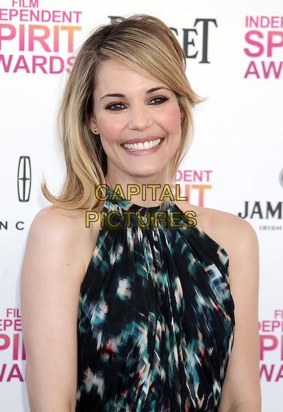 Leslie Bibb.2013 Film Independent Spirit Awards - Arrivals Held At Santa Monica Beach, Santa Monica, California, USA,.23rd February 2013..indy indie indies indys portrait headshot smiling black green halterneck sleeveless .CAP/ADM/RE.©Russ Elliot/AdMedia/Capital Pictures