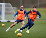 21.02.2019: Rangers training: Gareth McAuley and Nikola Katic