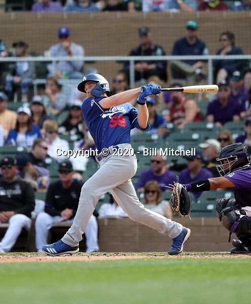 Rocky Gale - Los Angeles Dodgers 2020 spring training (Bill Mitchell)